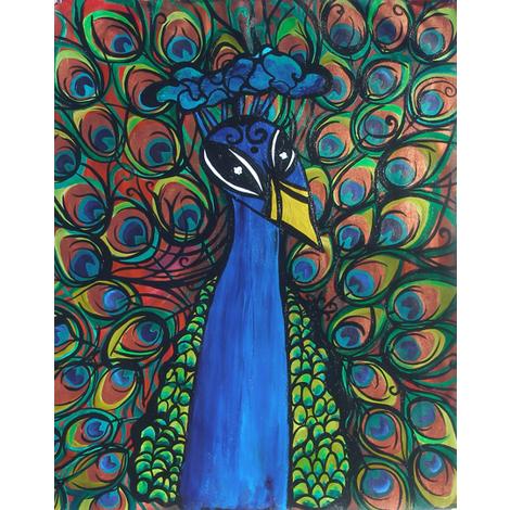 peacock fabric by heatherpeterman on Spoonflower - custom fabric