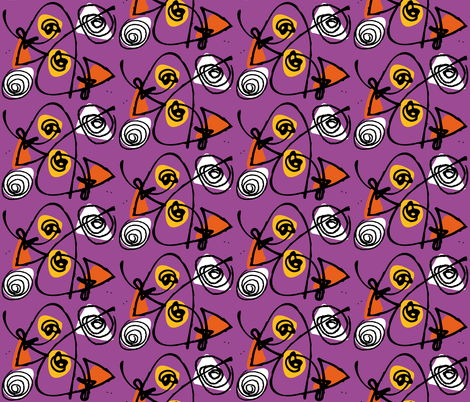 orange_and_purple fabric by zapi on Spoonflower - custom fabric