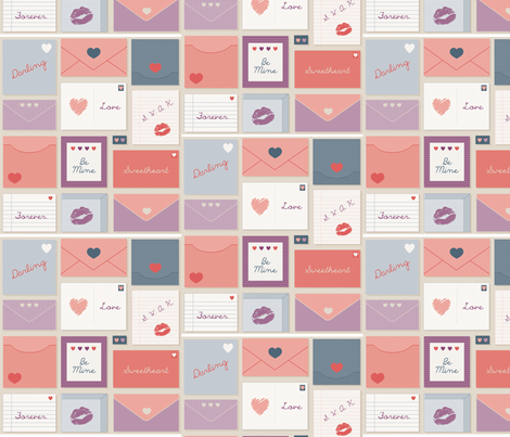 Sweetest Love Letters fabric by dearnicole80 on Spoonflower - custom fabric