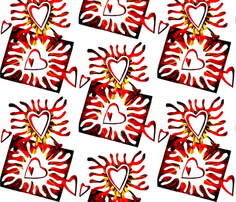 Burning Hearts fabric by sarahdesigns on Spoonflower - custom fabric