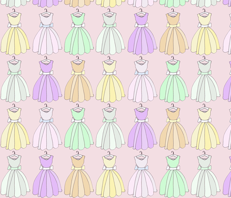 Vintage Dresses fabric by graceful on Spoonflower - custom fabric