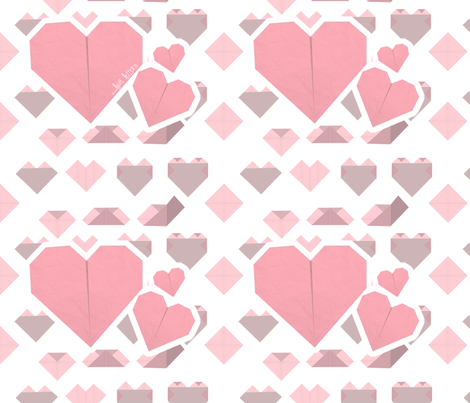 Origami Love Letter fabric by clairejean on Spoonflower - custom fabric