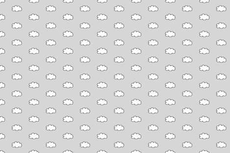 Cloudy Day in Gray fabric by gwennypenny on Spoonflower - custom fabric