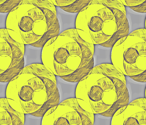 cycle yellow on gray fabric by glimmericks on Spoonflower - custom fabric