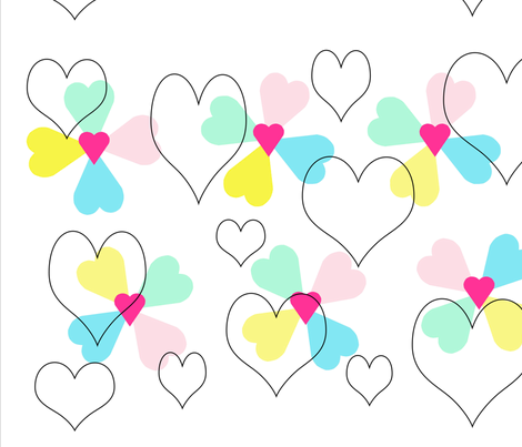 Hearts_Design2 fabric by trixie76 on Spoonflower - custom fabric