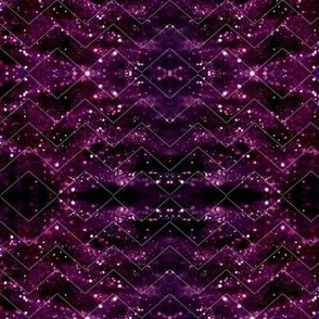 Glitter Bokeh Chevron - Purple