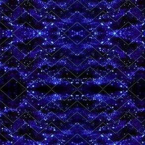 Glitter Bokeh Chevron - Blue