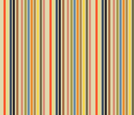Toulouse Lautrec Posters Companion Stripe fabric by hollycejeffriess on Spoonflower - custom fabric