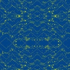 Glitter Bokeh Chevron - Neon Blue
