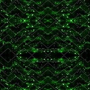 Glitter Bokeh Chevron - Green
