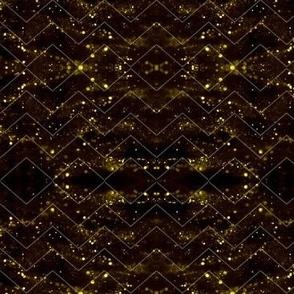 Glitter Bokeh Chevron - Gold