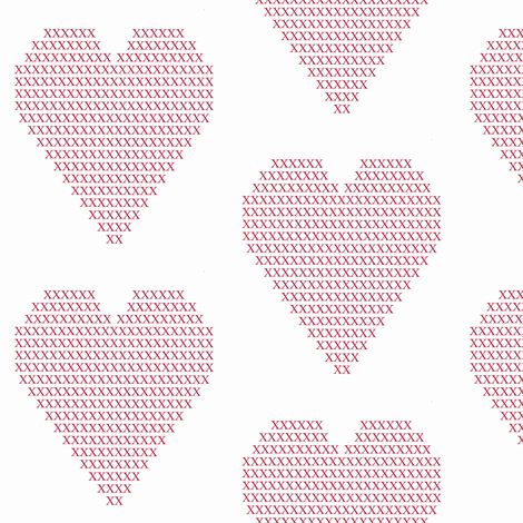 crosstitch red heart fabric by ali*b on Spoonflower - custom fabric