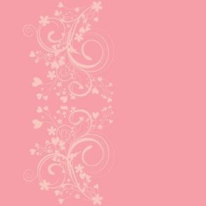 floral border - pastel pink
