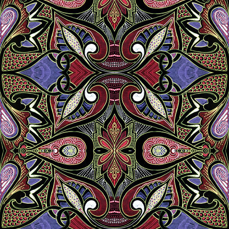 Tribal Tribulations fabric by edsel2084 on Spoonflower - custom fabric