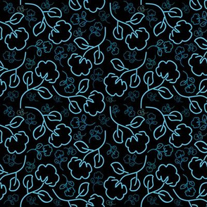Cotton flowers pattern