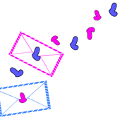 Pink Blue Love Letters