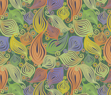 Zenyatta Mandala-Jungly fabric by groovity on Spoonflower - custom fabric