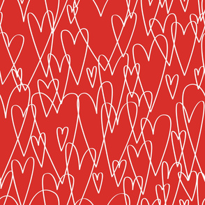 Hearts by Frizt.in - Red