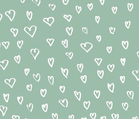 Hearts by Frizt.in - Blue fabric by friztin on Spoonflower - custom fabric