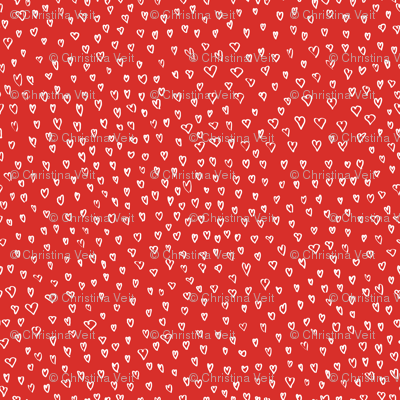 Small Hearts in Red by Friztin