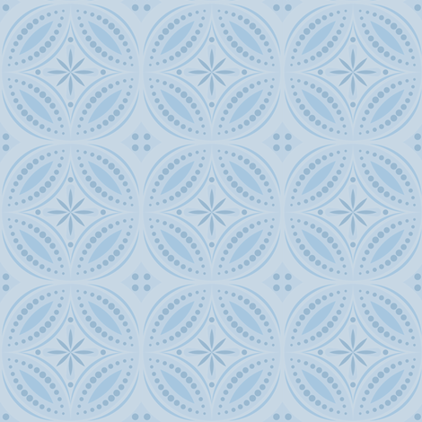 Moroccan Tiles - Pale Blue fabric by shannonmac on Spoonflower - custom fabric
