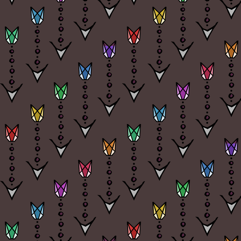 Arrows of Sagittarius  fabric by pond_ripple on Spoonflower - custom fabric