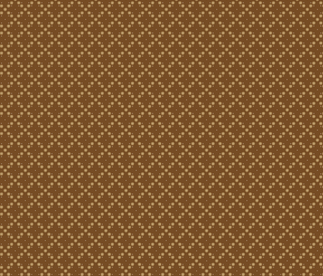 Aussie DITSY brown fabric by gitchyville_stitches on Spoonflower - custom fabric