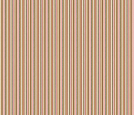 Aussie STRIPE pink fabric by gitchyville_stitches on Spoonflower - custom fabric