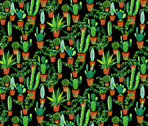 Cacti fabric by siankeegan on Spoonflower - custom fabric