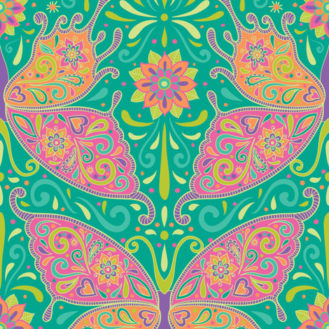 Butterflies Are Free to Fly fabric by groovity on Spoonflower - custom fabric