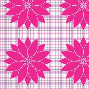 Large_White_Hot_Pink_Lotus_Plaid