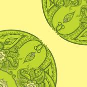Paisley circles green