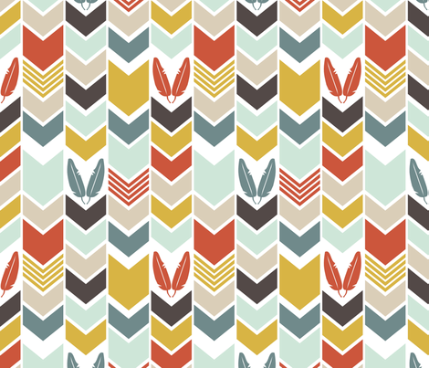 CowboysIndiansChevron fabric by mrshervi on Spoonflower - custom fabric