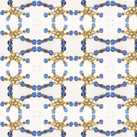 Golden Blue Stitchery fabric by ravynscache on Spoonflower - custom fabric