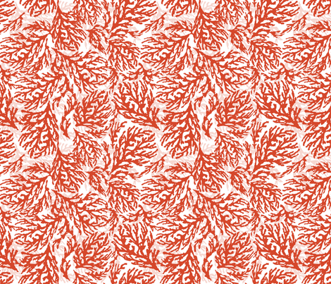 Coral Mango fabric by lulabelle on Spoonflower - custom fabric