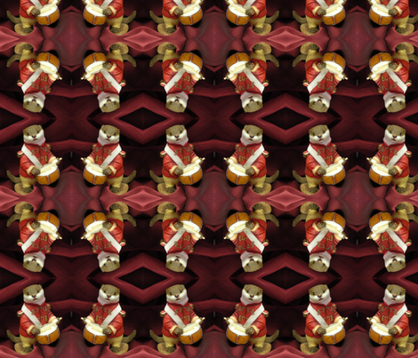 Little Drummer Otter fabric by ravynscache on Spoonflower - custom fabric