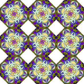 Foxy European Purple Gold Floral Mandala