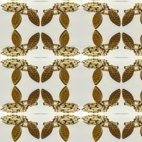 Bone Leaves fabric by ravynscache on Spoonflower - custom fabric