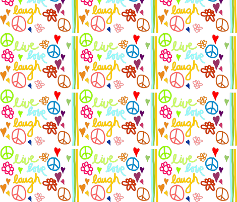 live_love_laugh fabric by tat1 on Spoonflower - custom fabric