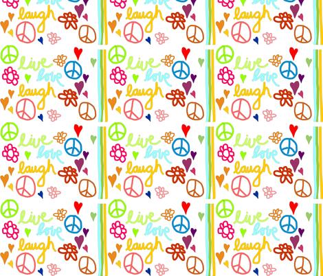 live_love_laugh fabric by tat1 on Spoonflower - custom fabric