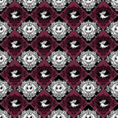 Jack Damask Purple Nightmare Before Christmas