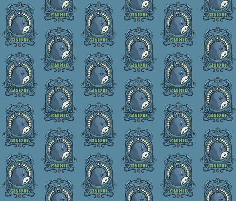 Forest Spirit Nouveau fabric by karenhallionart on Spoonflower - custom fabric