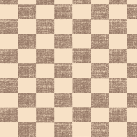 Check Mates - pink/brown fabric by materialsgirl on Spoonflower - custom fabric