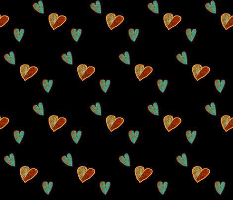 Floating Hearts fabric by anniedeb on Spoonflower - custom fabric