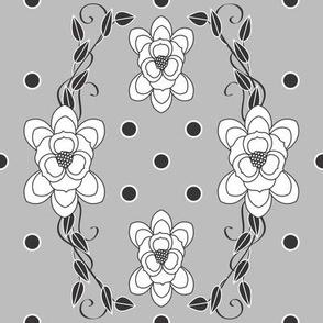 White_Pokadot_scroll_on_grey