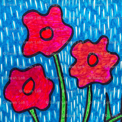 Poppies in the Rain 2