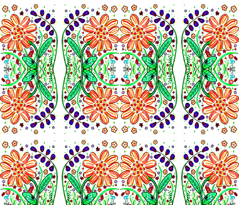 Happy Garden fabric by sarahdesigns on Spoonflower - custom fabric