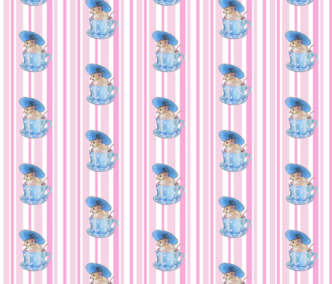 parasol mouse rosa fabric by golders on Spoonflower - custom fabric