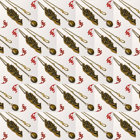 Fafnir with Flame fabric by ravynscache on Spoonflower - custom fabric