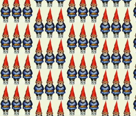 Gnomes fabric by motleycruiser on Spoonflower - custom fabric